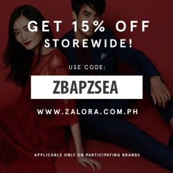 Use the code ZBAPZSEA when you shop at Zalora to avail discounts!